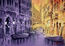Balconies and Boats - Venice by Peter J Rodgers -  sized 28x21 inches. Available from Whitewall Galleries